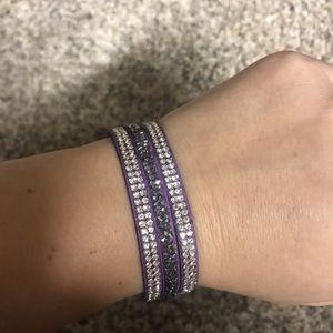 Purple wrap bracelet NEW never worn nickel FREE